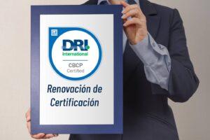 Renovación certificación CBCP